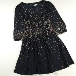 Cooperative Navy Arrow & Dot Print Dress Small